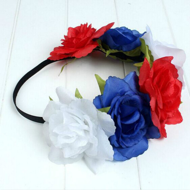 Fake silk flower hair accessories artificial flowers rose hair fake silk flower hair accessories artificial flowers rose hair headband rubber band beach wedding bridal floral mightylinksfo