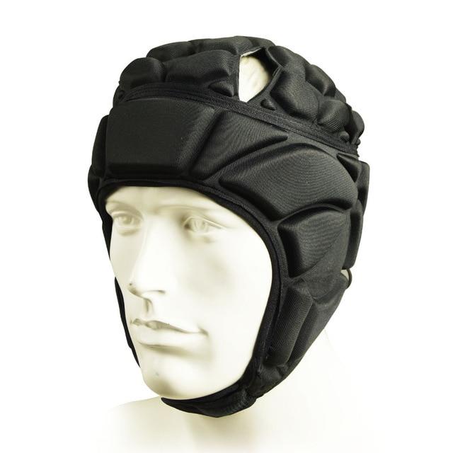 Регби вратарь футбольные майки тренировочные штаны наколенники EVA губка футболка для американского футбола наколенники защита голени сноуборд шлем - Цвет: black helmet