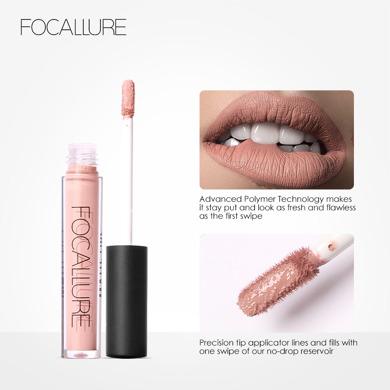 Focallure 12 Colors Tint liquid Lipstick Matte Lip Gloss Red Velvet Waterproof Long Lasting Nude Lipstick in Lipstick from Beauty Health