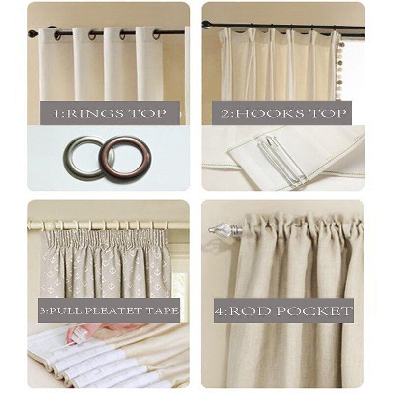 Moderne tüll vorhänge für wohnzimmer schlafzimmer küche vorhänge - Haustextilien - Foto 6