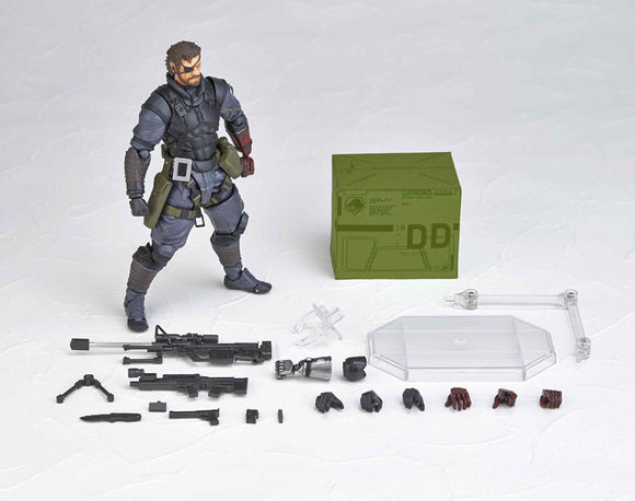 Metal Gear Solid Action Figures Vulcanlog 004 MGS The Phantom Pain Venom Snake PVC Toys 140mm Anime Metal Gear Toy metal gear solid v the phantom pain play arts flaming man action figure super hero