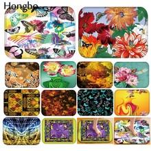 Hongbo Flower Pattern Anti-Slip Carpet Door Mat Flannel Doormat Outdoor Kitchen Living Room Floor Mat Rug pebble series flannel printing home anti slip absorbent entry mat bathroom mat door mat bedside mat