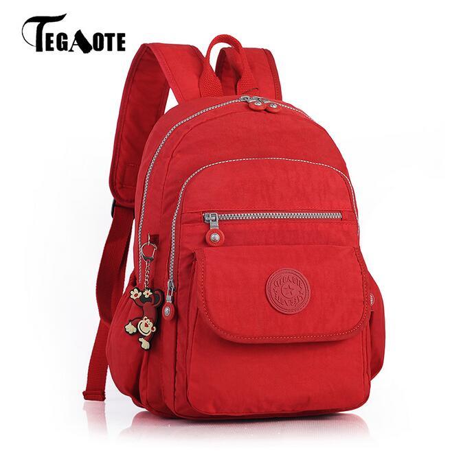 TEGAOTE Women Backpacks For Teenage Girls Nylon Backpack Female Striped Feminine Backpack School Bagpack Mochila Feminina Bag