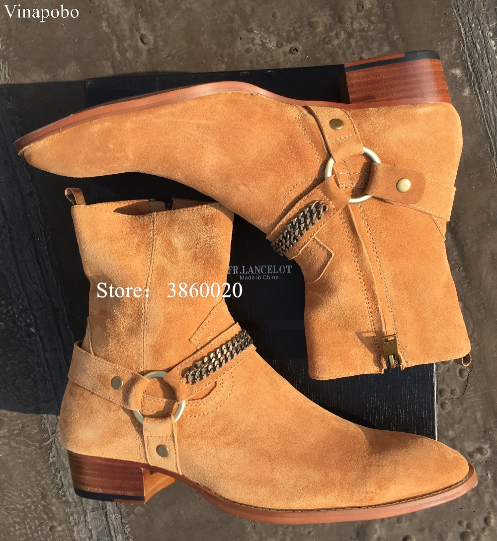 Schnalle Martin Wyatt Bankett Top Stiefel Leder Vinapobo Vintage The Harry as Pircture Strap Pircture As High Ring Chelsea Kette Denim Männer Handgemachte Booots qZatxXt