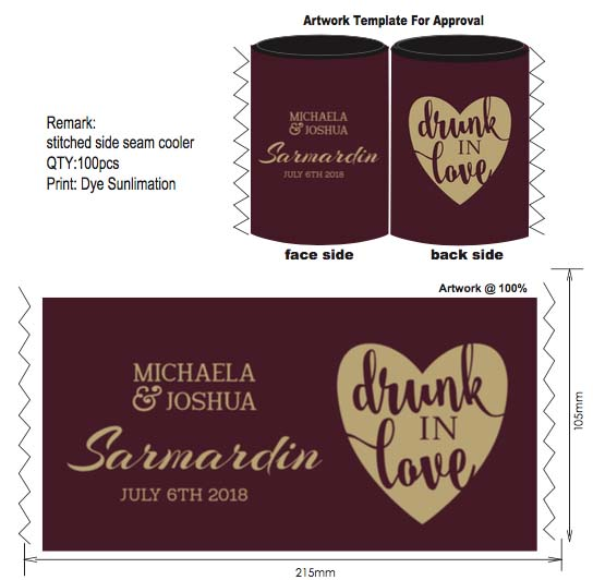 100pcs Neoprene Can Cooler Wedding Customized Gifts Stubby Holder Custom Your Logo Printed With Bottom Beer Can Picnic Cool Bag