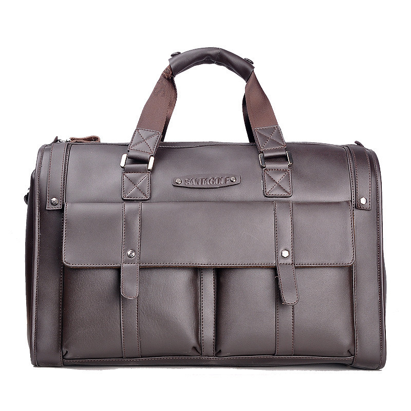 New Fashion travel bag men casual leather bag, large capacity travelling bag, brand design cowhide leather handbag for men high quality authentic famous polo golf double clothing bag men travel golf shoes bag custom handbag large capacity45 26 34 cm