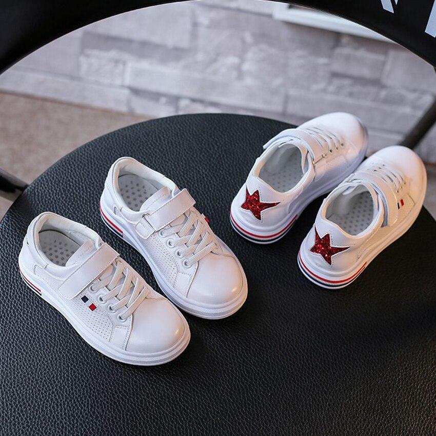 De luxe enfants chaussures paillettes super-star coloré bande talon enfants fille garçons sneaker de mode enfant en bas âge chaussures enfant marche