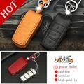 Genuine Leather Car intelligent/folding Key Case Fob Cover for new Magotan B7L B6 CC