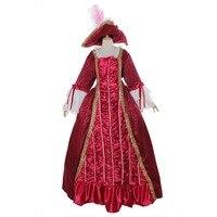 Бесплатная доставка на заказ аристократ бальное платье в викторианском стиле платье костюм Готическая вечернее платье
