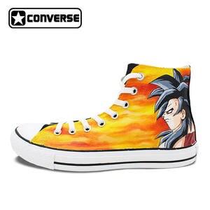 16eced8a3dd4 Converse Canvas Skateboarding Shoes Men Women All Star Dragon Ball Saiyan  Son Goku