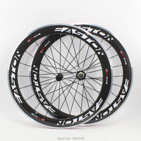 Newest EC90 700C 60mm Clincher Rims Road Bike Aero 3K Carbon Fibre Bicycle Wheelsets With Alloy