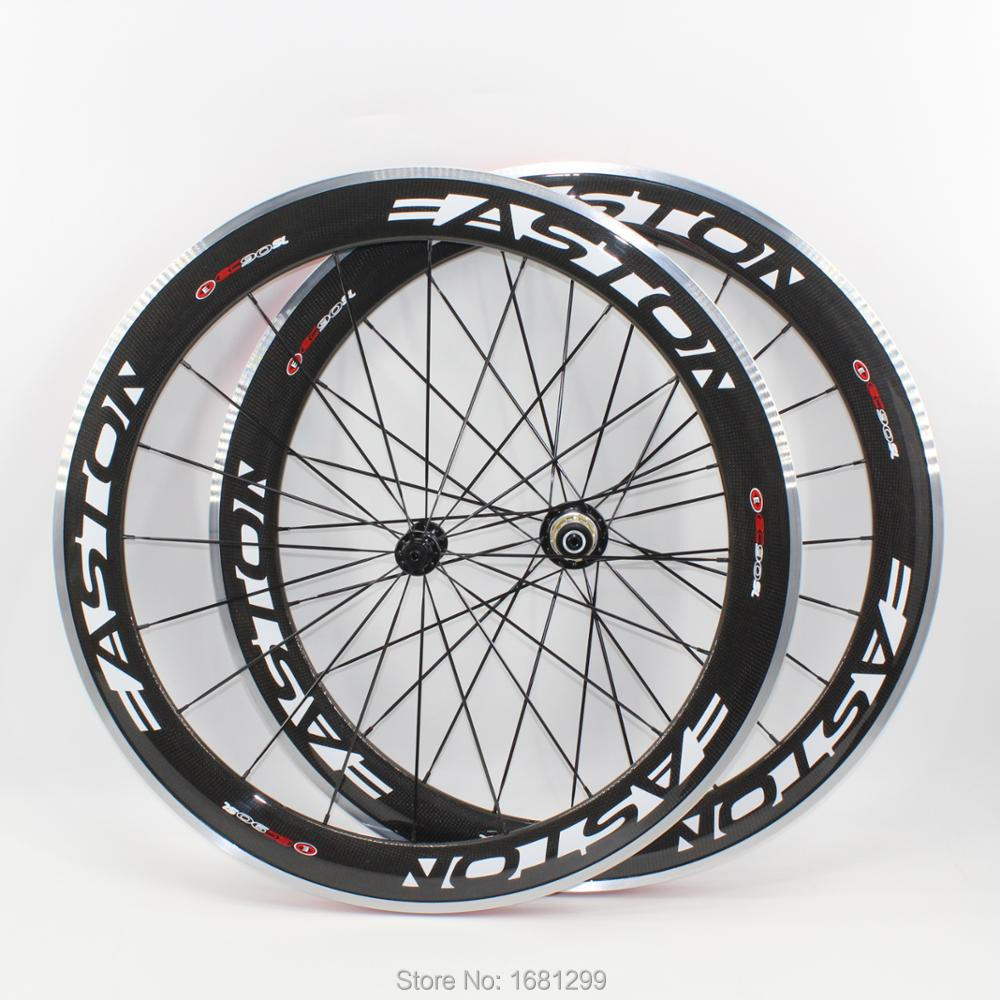 Newest EC90 700C 60mm clincher rims Road bike aero 3K carbon fibre bicycle wheelsets with alloy brake surface R13 hubs Free ship carbon wheels 700c 88mm depth 25mm bicycle bike rims 3k ud glossy matte road bicycles rims customize carbon rims