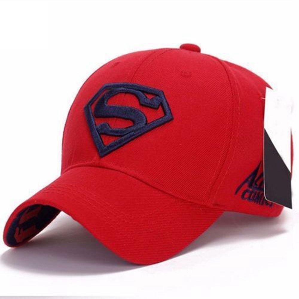 Men Women Unisex Outdoor Snapback Running Cap Adjustable Fit Cap Superman Hip-hop Stretch Hat