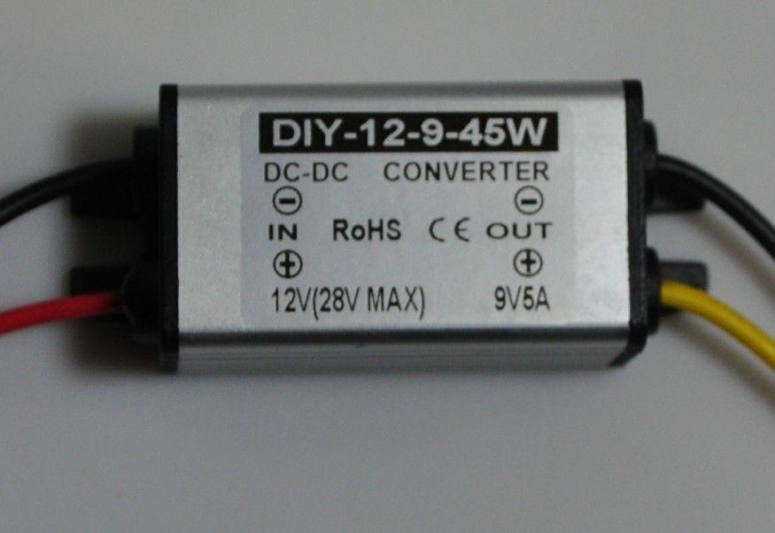 DC 12V 24V(11.5V-28V) TO 9V 5A 45W DC Converter Regulator buck Module Waterproof CE