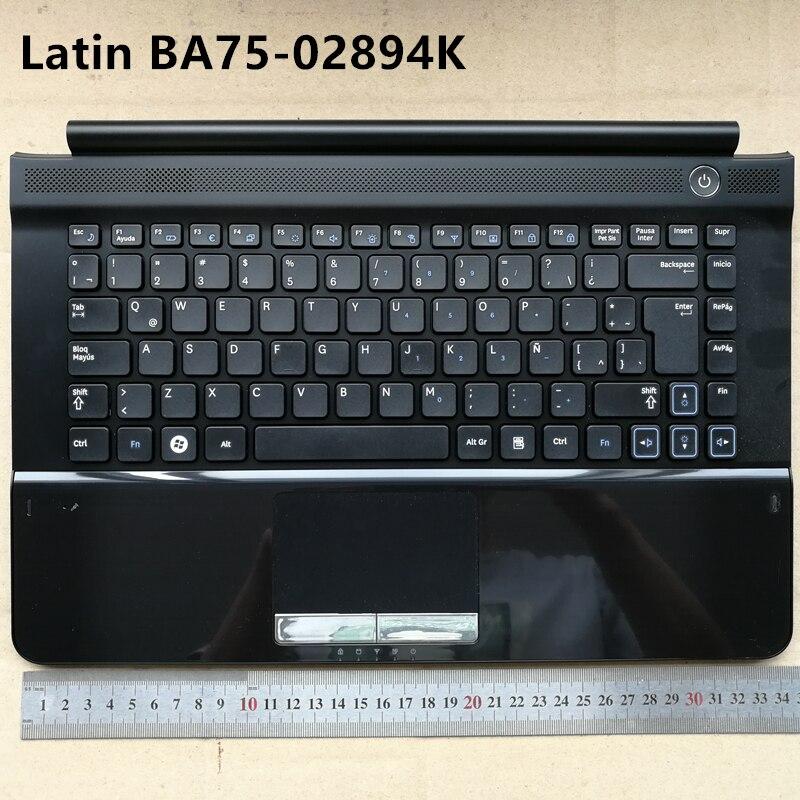 Disposition latine nouveau clavier dordinateur portable avec support tactile pour Samsung RC410 RC420 RC411 LA BA75-02894KDisposition latine nouveau clavier dordinateur portable avec support tactile pour Samsung RC410 RC420 RC411 LA BA75-02894K