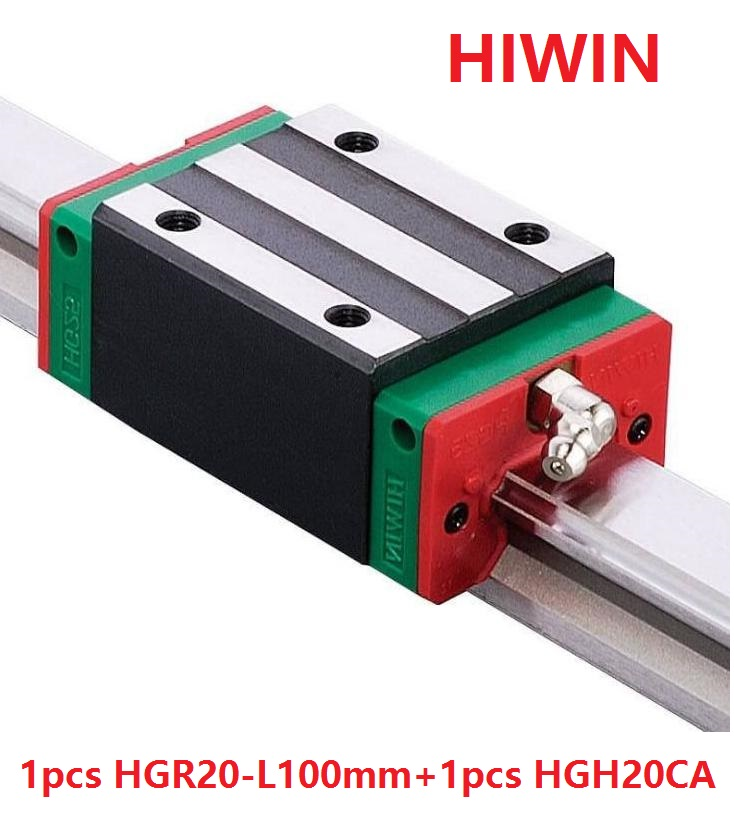 все цены на 1pcs 100% original Hiwin linear rail linear guide HGR20 -L 100mm + 1pcs HGH20CA narrow block for cnc router онлайн