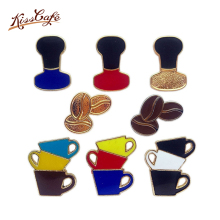 Cartoon Coffee Cup Punch Pot Mocha Coffee Beans Brooch Pins Button Pins Decoration Vintage Couple Fashion Jewelry For Women Gift цена 2017