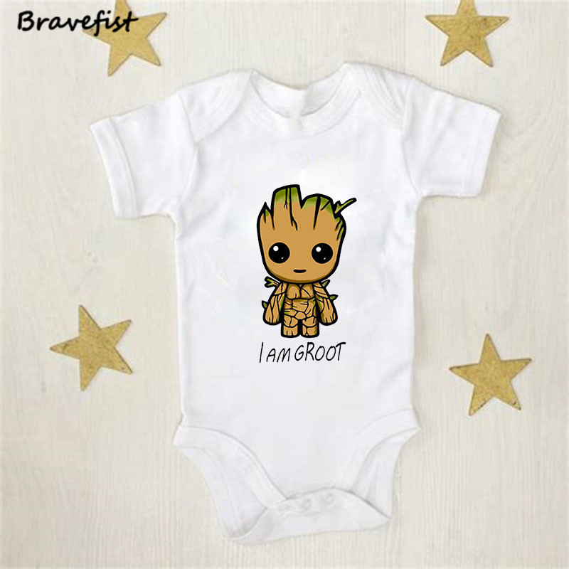Cartoon Baby Bodysuit Infant Jumpsuit Overall Short Sleeve Body Suit Baby Clothing Set Summer Cotton I