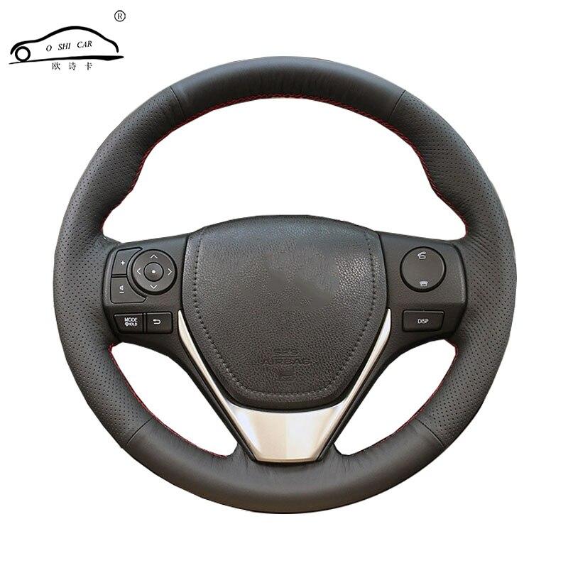 Cobertura de volante De carro De Couro Artificial trança para Toyota RAV4 2013-2016 Toyota Corolla 2014-2016 Scion/Custom made cobertura de Direção