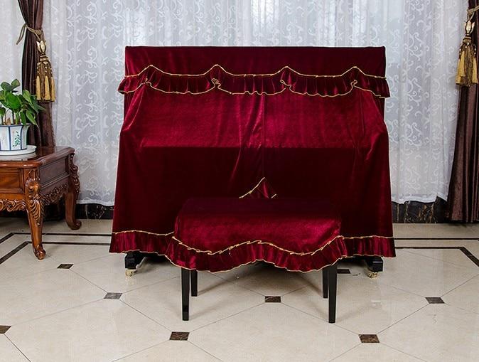 1 대 3 색 새로운 방진 홈 촉각 커버 두꺼운 천 골드 벨벳 피아노 커버 KQ 008