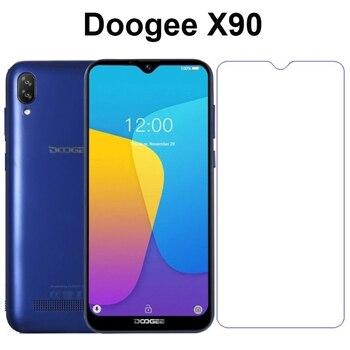 Перейти на Алиэкспресс и купить Защитная пленка для экрана Doogee X 90 X90, закаленное стекло 9 H, защита от царапин, Передняя пленка для мобильного телефона Doogee X90, стеклянный чехо...