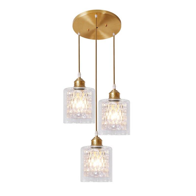 LukLoy Gold Modern Pendant Ceiling Lamps Loft For The Kitchen Nordic Glass LED Pendant Lights Hanglamp Hanging Light Fixture