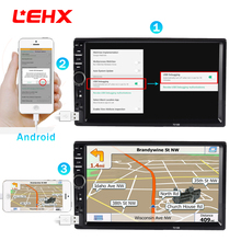 "LEHX 2din 701 M Auto Radio 7 ""Touch in Dash Auto MP5 Lettore Audio Player Bluetooth Autoradio Videocamera vista posteriore A Distanza di controllo"