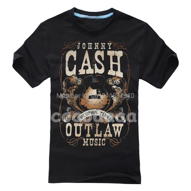6 kinds vintage johnny cash rocker rock brand shirt new for Thick t shirts brands