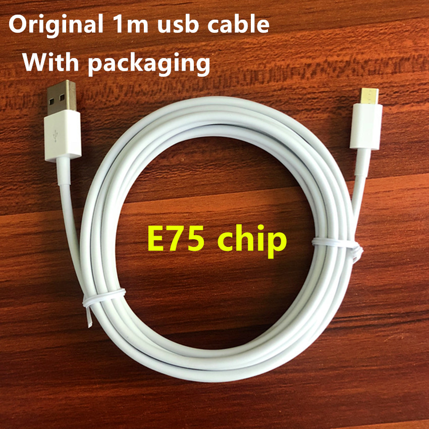 100pcs lot New packaging box 1m 3ft E75 Chip Data USB charger Cable With green label