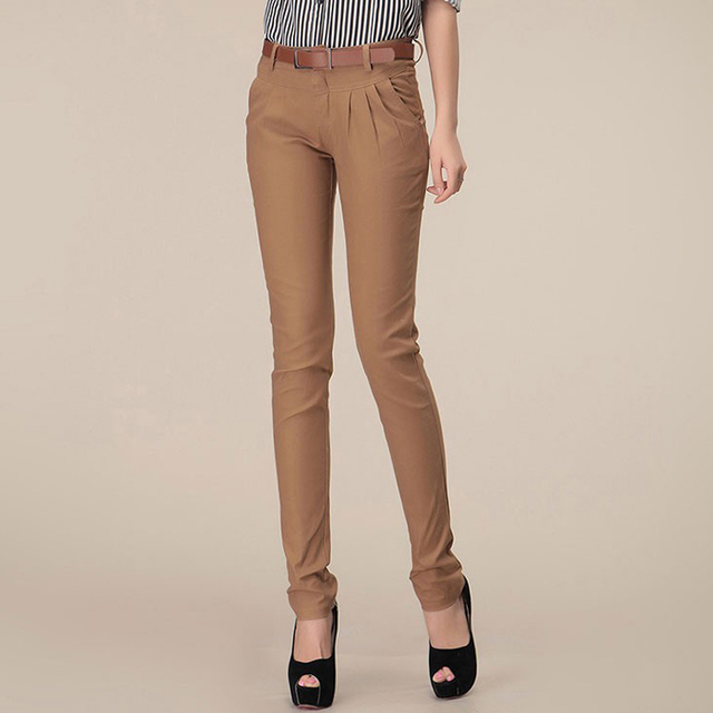 29c016d51d1 New fashion formal pants women spring summer slim casual harem Pencil  cotton skinny pants Casual office trouser