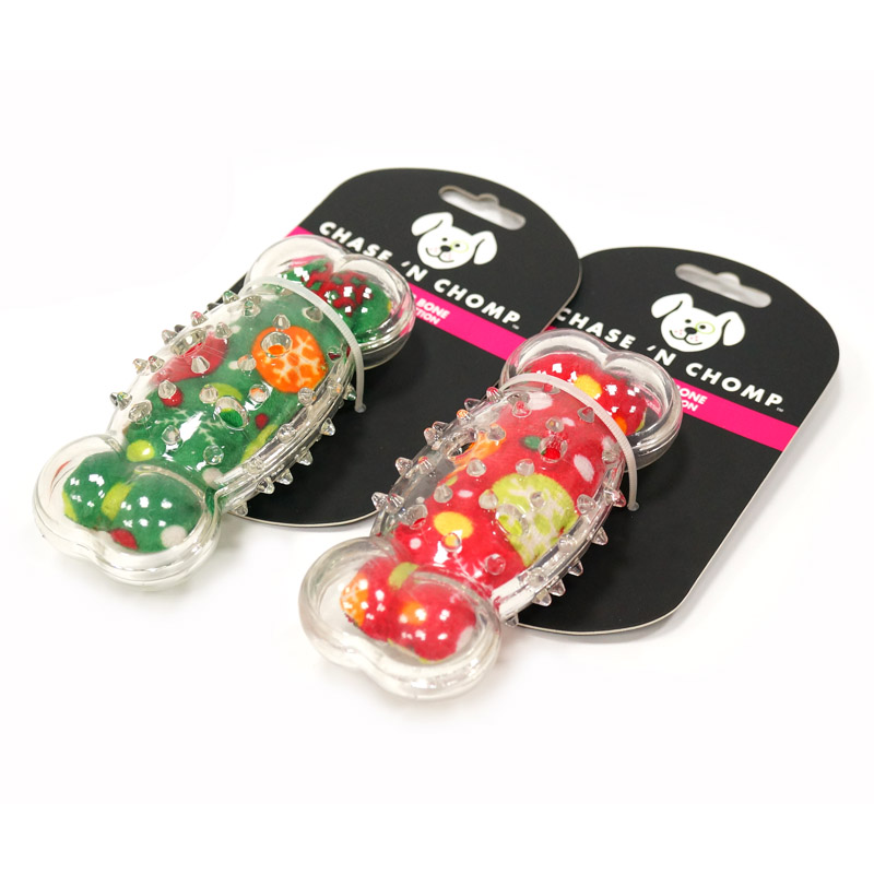 CAITEC Dog Toys Squeaking Bone Springy Suitable For Tossing And Chasing Soft Dog Toys Of Holiday Series