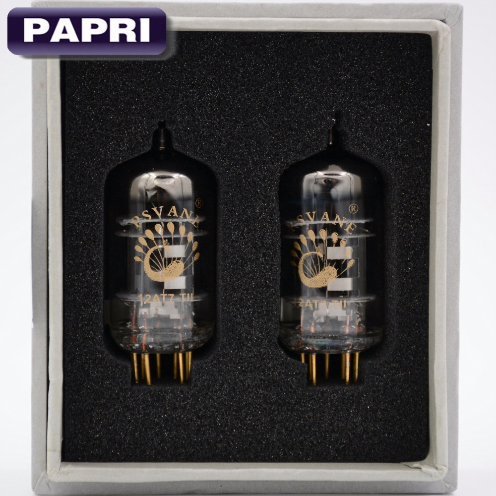 купить 1Pair Premium Mark II PSVANE 12AT7-T/ECC81 Vacuum Tube For HIFI DIY Audio Headphone AMP Vintage Tube Amplifier Original Factory по цене 4382.73 рублей