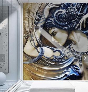 3D estéreo en relieve chica sexy foto papel pintado Mural de pared para sala de estar dormitorio papel de Contacto papel de pared rollo murales