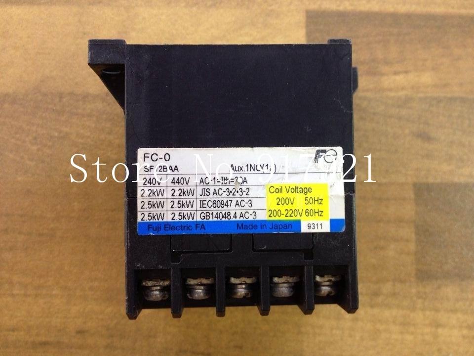 [ZOB] Fe FC-0 220VAC 20A contactor contactor Fuji Elevator SF12BAA genuine original --2pcs/lot [zob] original original srd n4 dc48v 2no 2nc genuine original dc contactor 2pcs lot