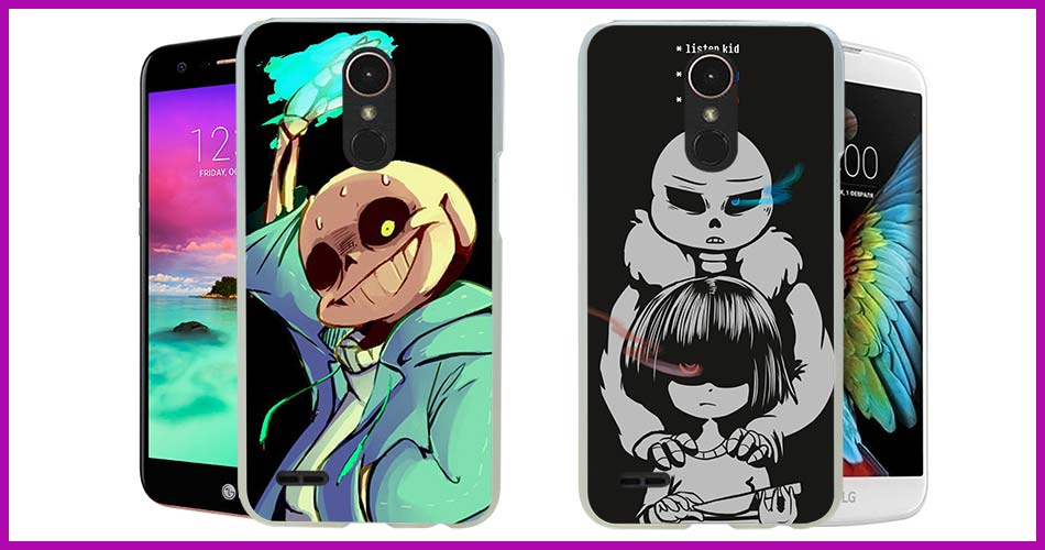 Undertale Sans design transparent clear hard case cover for LG G3 G4 G5 G6  K4 K5 K8 K10 V10 V20 K10 2017