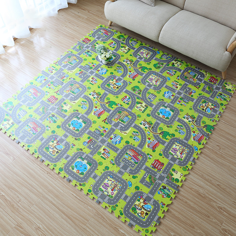 9 шт., плюшевые коврики-пазлы из ЭВА, 30 х30 см