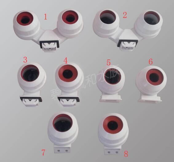 Mix 8 Kinds Waterproof T5  G5 T8 G13 Lamp Holders Light Socket For Aquarium, Led Light Tube Etc IP67
