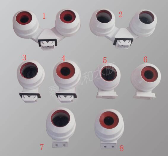 mix 8 kinds waterproof T5 G5 <font><b>T8</b></font> G13 <font><b>lamp</b></font> holders light socket for aquarium, <font><b>led</b></font> light tube etc IP67 image