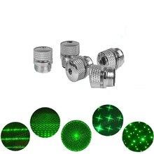 5 pces laser verde 303 estrela boné laser hight dispositivo poderoso foco ajustável ponteiros lazer com tampa estrela (não inclui laser)