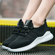Liren 2019 Summer Air Mesh New Lady Casual Comfortable Women Vulcanize Shoes for Sport Lace-up Flat Heels Breathable