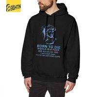 Man Vaporwave Born To Die Hoodies New 100% Cotton Hooded Sweatshirts Hipster Pullovers