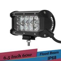 60 watt Straßenverkehr GEFÜHRTES Arbeitslicht Fahren Lampe 12 v 24 v Auto SUV ATV Lkw-anhänger Motorrad 4wd 4x4 Nebelscheinwerfer Punkt-flut-led Light Bar