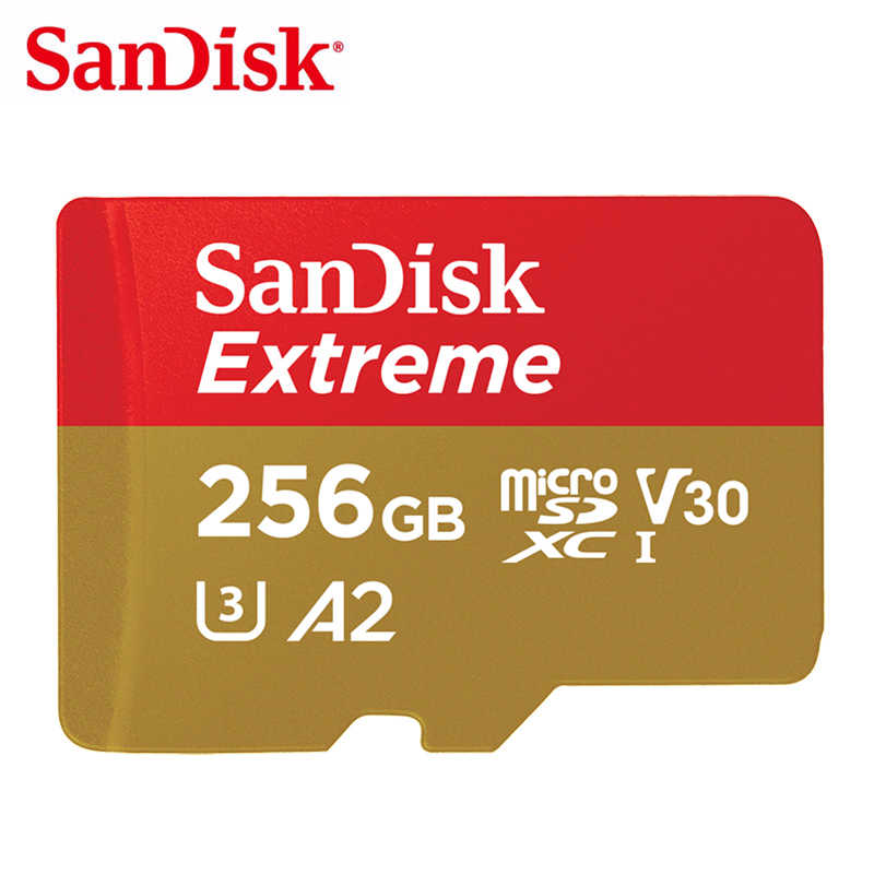 Carte mémoire SanDisk Extreme 128GB 64GB carte MicroSD 256GB carte Flash TF 32GB U3 Class10 SDHC SDXC A1/A2 V30 4K Full HD 160 mo/s
