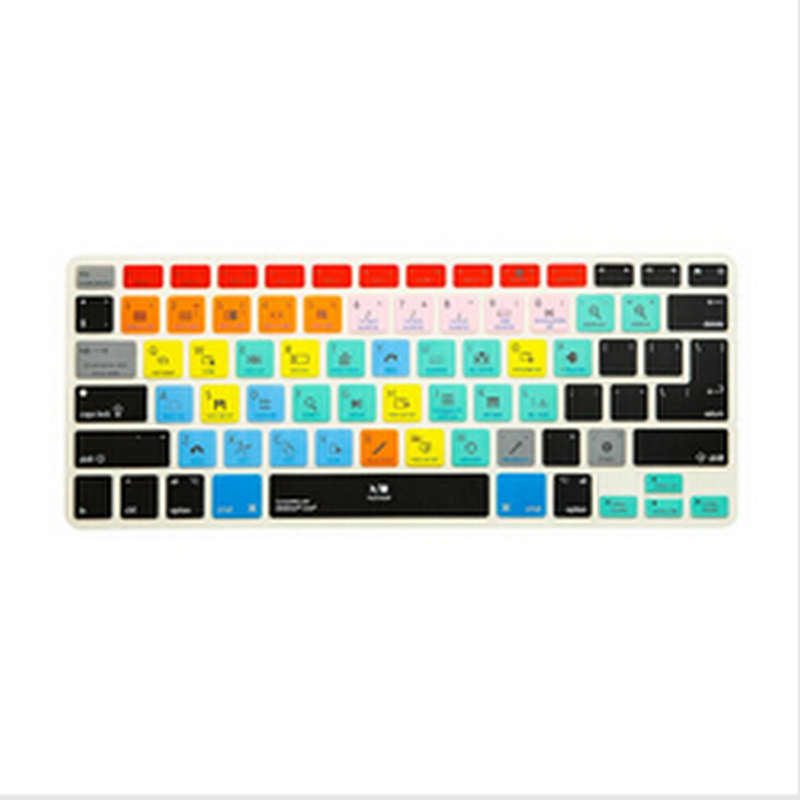 Ableton Live Functional Shortcut Silicone Keyboard Cover Skin for Macbook Air 13 inch, for Macbook Pro 13, 15, US&European