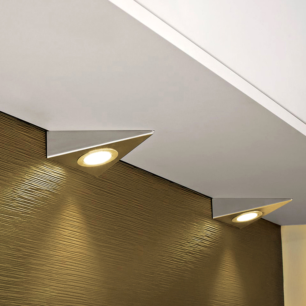 Led Wall Light Kitchen Under Cabinet Cupboard Triangle Led Light ...