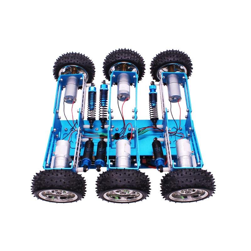 Arduino 6WD Fuori Strada Kit di Robot di Ricerca e salvataggio smart car chassis piattaforma 6 drive telaio in alluminio-in Componenti e accessori da Giocattoli e hobby su  Gruppo 2