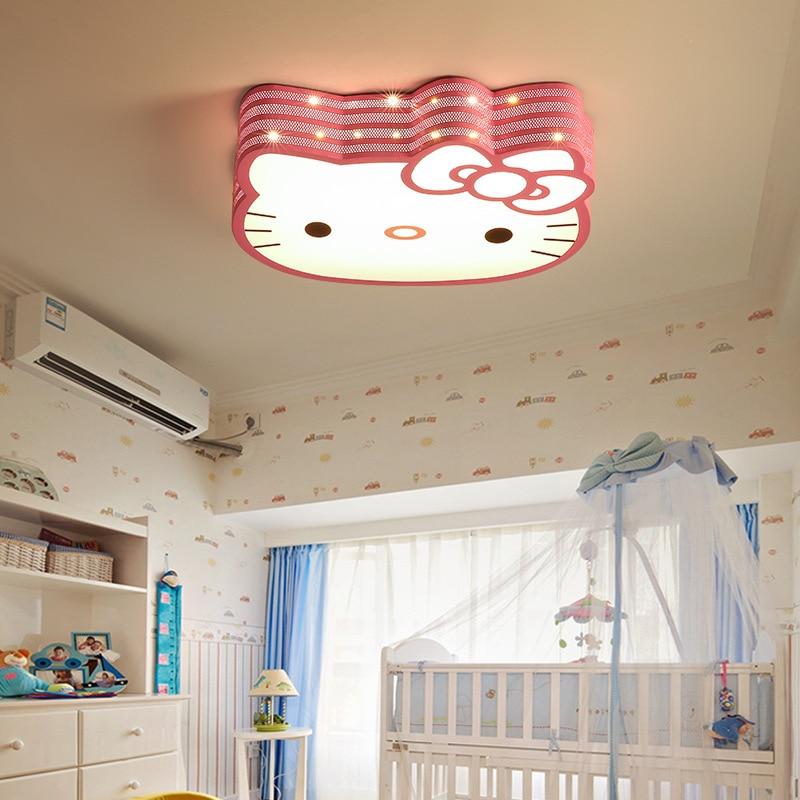 Creative Hello Kitty cat Led Ceiling Lamp Eye Protection Energy saving Cartoon Ceiling Light for kindergarten Children's Bedroom