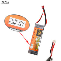 3000mAh 11 1V 3S 30C Lipo Battery For RC Airplane Car Boat Deans Plug Spare Part