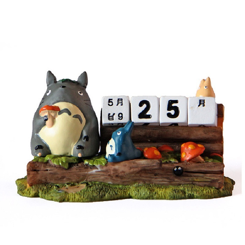 Studio Ghibli Miyazaki Totoro Cute Totoro Calendar Resin Action Figures Toys Collection Model Toys For Children Christmas Gifts
