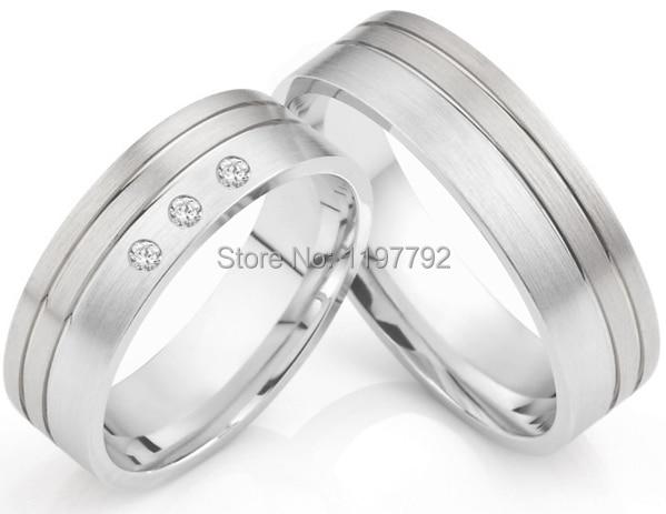 luxury custom size 5 to 13 solid Titanium Wedding Rings for him and herluxury custom size 5 to 13 solid Titanium Wedding Rings for him and her
